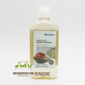 bynature | hair & body care  เจลอาบน้ำอโวคาโด  bynature Avocado Shower Gel 300 ml.