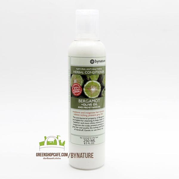 ครีมนวดผมมะกรูด+มะกอก  bynature Bergamot + Olive Oil Hair Conditioner 250ml. bynature | hair & body care