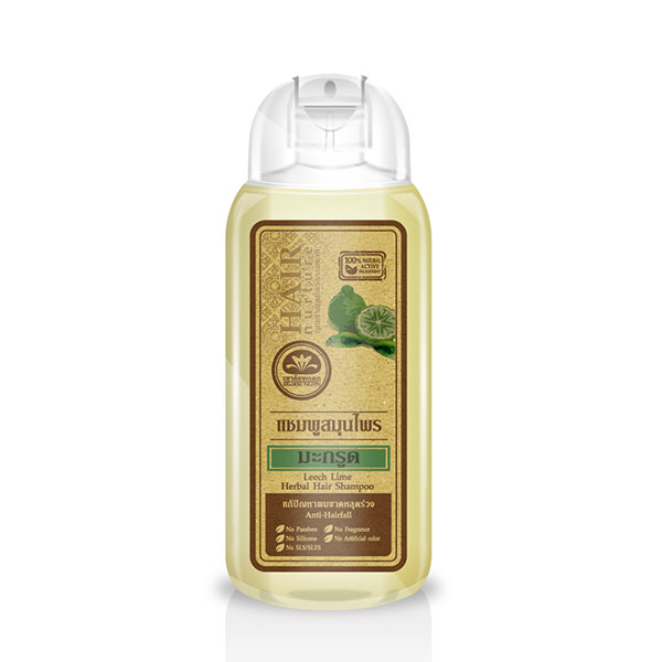 เขาค้อทะเลภู แชมพูสมุนไพร มะกรูด 200 ml. Leech Lime Shampoo - Anti-Hairfall แก้ปัญหาผมขาดหลุดร่วง