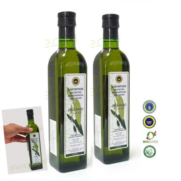 [2 ขวด] น้ำมันมะกอกออร์แกนิก ซาคินโท๊ส (กรีซ) 500 ml.