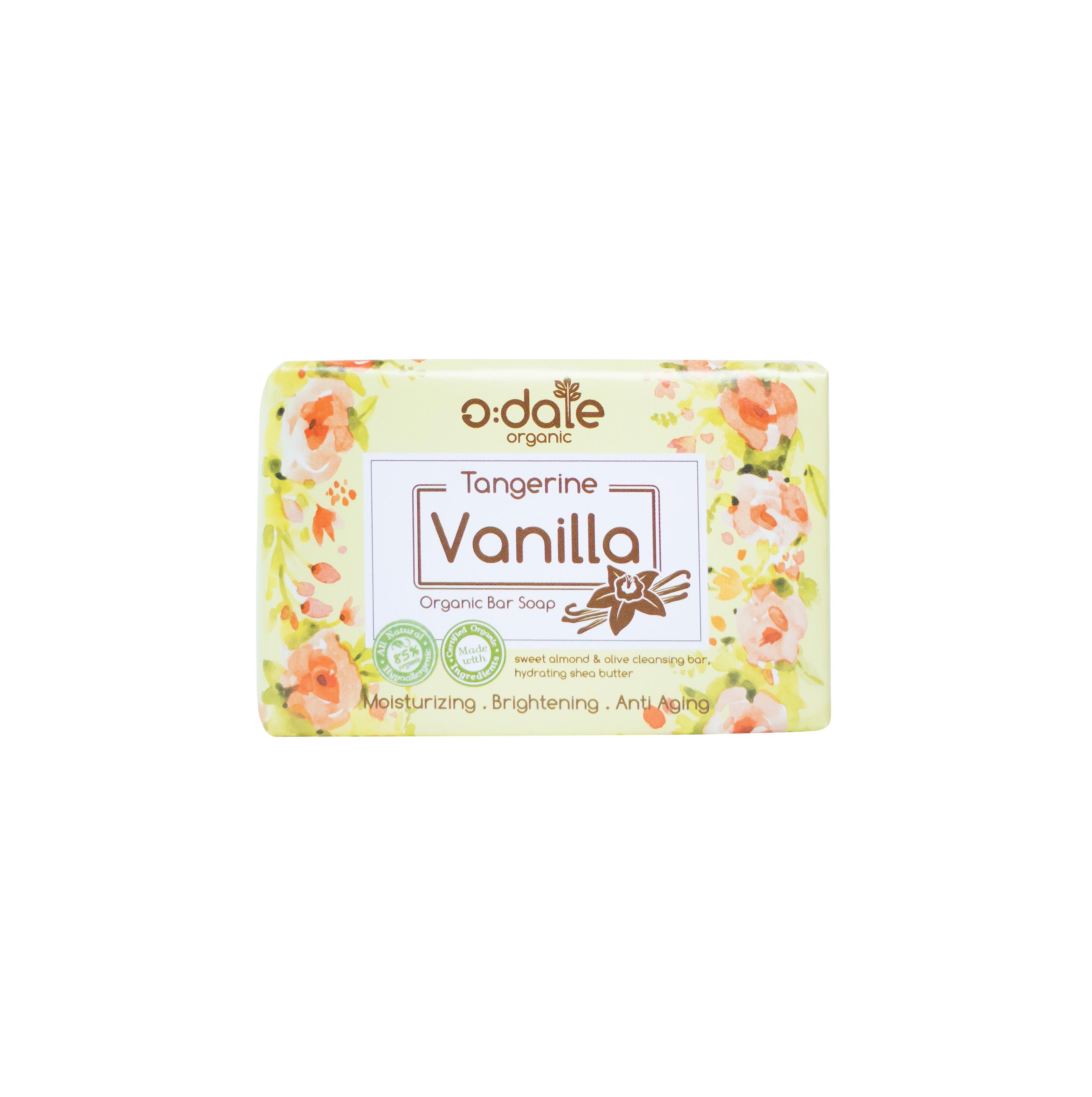 สบู่ออร์แกนิคแฮนด์เมด กลิ่น tangerine vanilla 100 g.